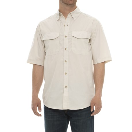 Wolverine Pentwater Vented Back Shirt - Short Sleeve (For Men) in Stone