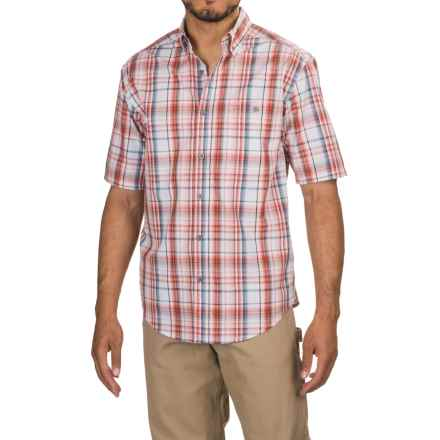 Wolverine Petoskey Shirt - Short Sleeve (For Men) in Dusty Red - Overstock