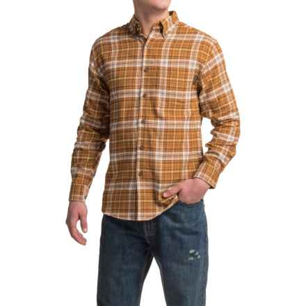 Wolverine Portage Flannel Shirt - Long Sleeve (For Men) in Ginger - Closeouts