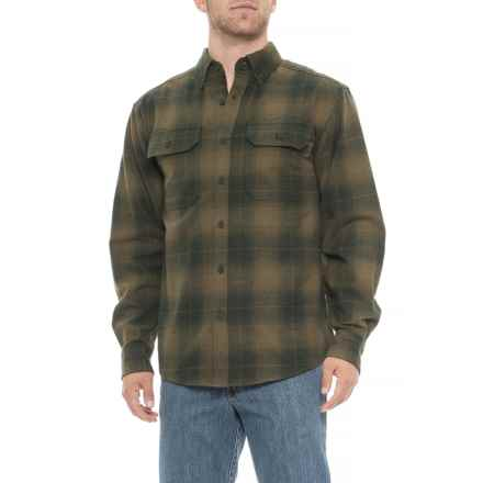 Wolverine Redwood Flannel Shirt - Long Sleeve (For Men) in Hunter Plaid - Closeouts