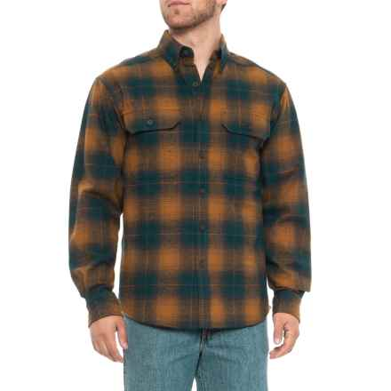 Wolverine Redwood Flannel Shirt - Long Sleeve (For Men) in Ink Heather - Closeouts