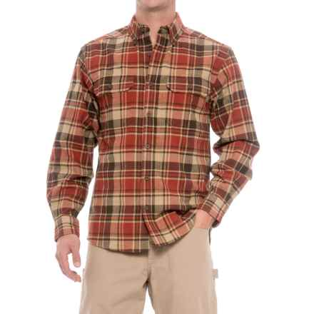Wolverine Redwood Heavyweight Flannel Shirt - Long Sleeve (For Men) in Cinnamon - Closeouts