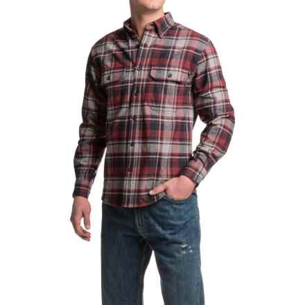 Wolverine Redwood Heavyweight Flannel Shirt - Long Sleeve (For Men) in Maroon - Closeouts