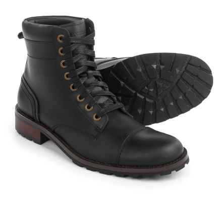 Wolverine Reese Cap Toe Lace Boots - Leather (For Men) in Black - Closeouts