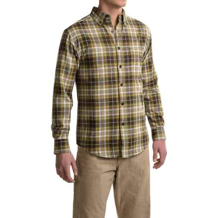 Wolverine Rogan Flannel Shirt - Long Sleeve (For Men) in Cypress - Closeouts