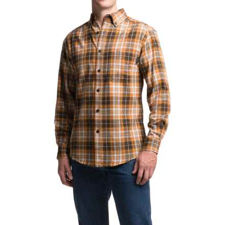 Wolverine Rogan Flannel Shirt - Long Sleeve (For Men) in Ginger - Closeouts