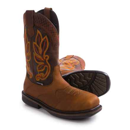 Wolverine Roscoe Leather Work Boots - Waterproof, Composite, Square Toe (For Men) in Poplar - Closeouts