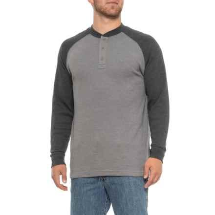888f6f2a52 Wolverine Rykker Grid Knit Henley Shirt - Long Sleeve (For Men) in Granite -
