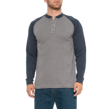 5adb7d0f Wolverine Rykker Grid Knit Henley Shirt - Long Sleeve (For Men) in Navy -