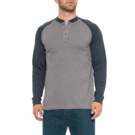 Wolverine Rykker Grid Knit Henley Shirt - Long Sleeve (For Men) in Navy - Closeouts