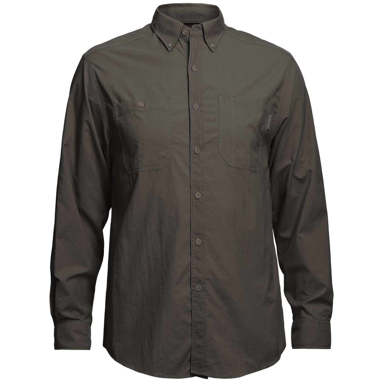 Wolverine scout shirt upf 30 nylon ripstop long sleeve for Men s upf long sleeve shirt
