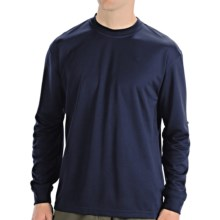 Wolverine Stud Pique T- Shirt - UPF 30, Long Sleeve (For Men) in Navy - Closeouts
