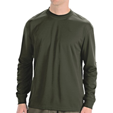 Wolverine Stud Pique T- Shirt - UPF 30, Long Sleeve (For Men) in Olive