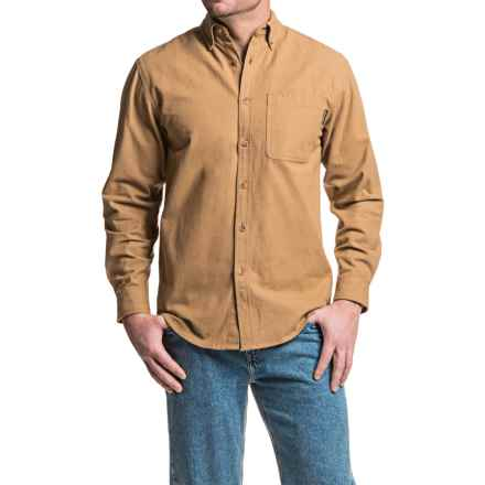 Wolverine Sutton Shirt - Cotton Chamois, Long Sleeve (For Men) in Hickory - Closeouts