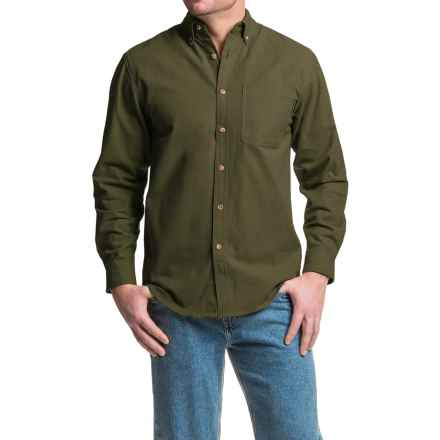Wolverine Sutton Shirt - Cotton Chamois, Long Sleeve (For Men) in Olive - Closeouts