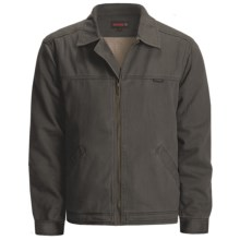Wolverine Upland Attendant Jacket - Cotton Twill, Sherpa Lined (For Men) in Bison - Closeouts