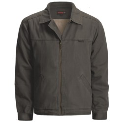 Wolverine Upland Attendant Jacket - Cotton Twill, Sherpa Lined (For Men) in Bison