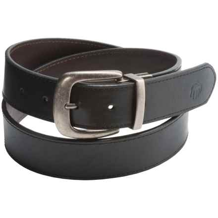 Wolverine Vintage Buckle Leather Belt - Reversible (For Men) in Black/Brown - Closeouts
