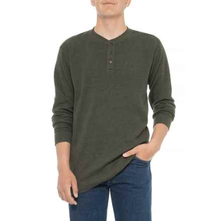 2bbf68b85e Wolverine Walden Henley Shirt - Long Sleeve (For Big and Tall Men) in Olive