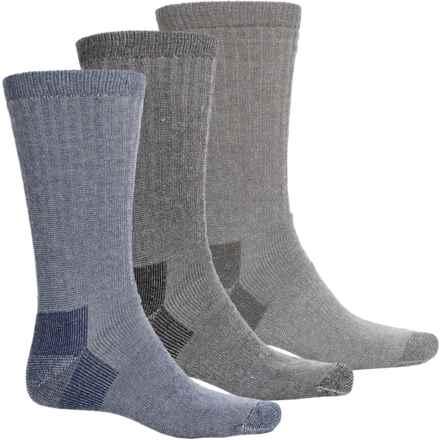 Wolverine Wool Hunting Socks - 3-Pack, Merino Wool, Crew (For Men) in Grey/Blue Multi - Closeouts