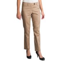 Womyn Stretch Cotton Sateen Pants (For Women) in Khaki - Closeouts