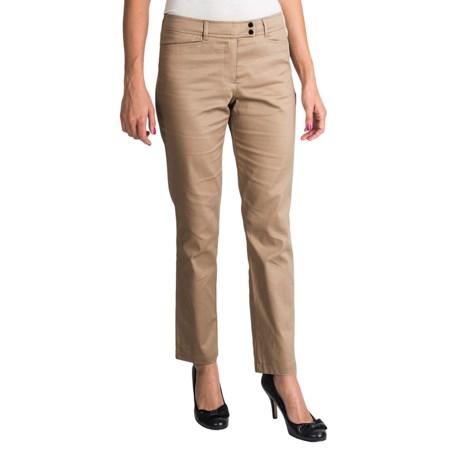 Womyn Stretch Cotton Sateen Pants (For Women) in Khaki