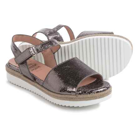 Wonders Espadrille Sandals - Leather (For Women) in Metallic Silver - Closeouts