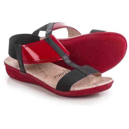 Wonders T-Strap Sandals (For Women) in Red/Black - Closeouts