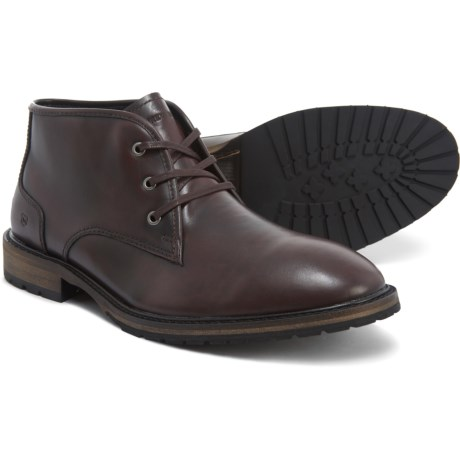Woodside Chukka Boots - Leather (For Men) - BURGUNDY/DEEP NATURAL/BLACK (13 )