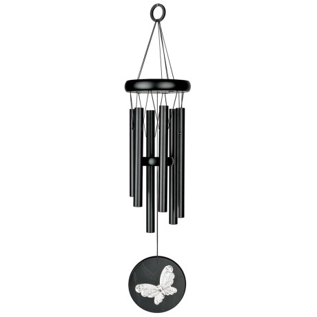 "Woodstock Chimes Habitats Wind Chime - 17"" in Black Butterfly"