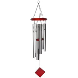 "Woodstock Chimes Pluto Wind Chime - 27"" in Silver/Bubinga"