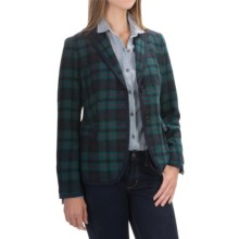 Wool-Blend Blazer (For Women) in Green/Red Plaid - 2nds