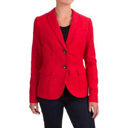 Wool-Blend Blazer (For Women) in Red - 2nds