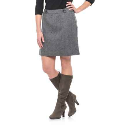 Wool Blend Skirt (For Women) in Grey - 2nds