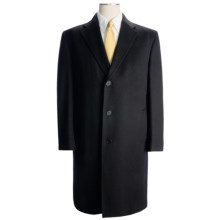 Wool-Cashmere Top Coat (For Men) in Black - Closeouts
