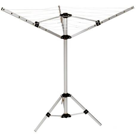 Woolite 3-Arm Aluminum Rotary Airer in Silver/Black