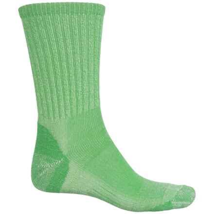 Woolmax Light Hiker Socks - Merino Wool, Crew (For Women) in Lime - Closeouts