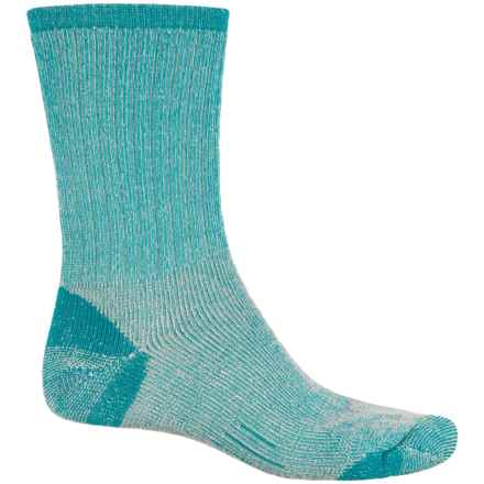 Woolmax Medium Hiking Socks - Merino Wool, Crew (For Women) in Biscary Bay - Closeouts