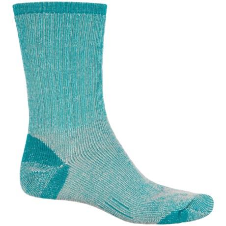 Woolmax Medium Hiking Socks - Merino Wool, Crew (For Women) in Biscary Bay