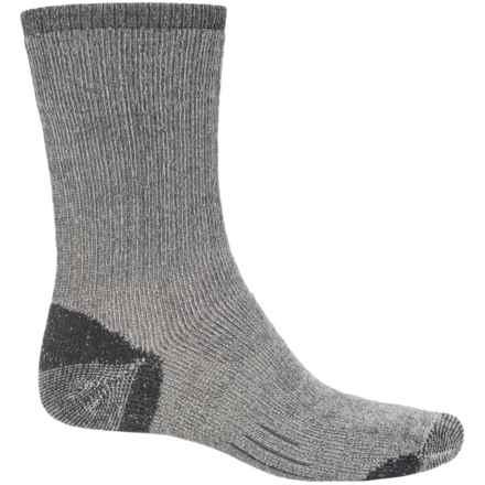 Woolmax Medium Hiking Socks - Merino Wool, Crew (For Women) in Coal - Closeouts