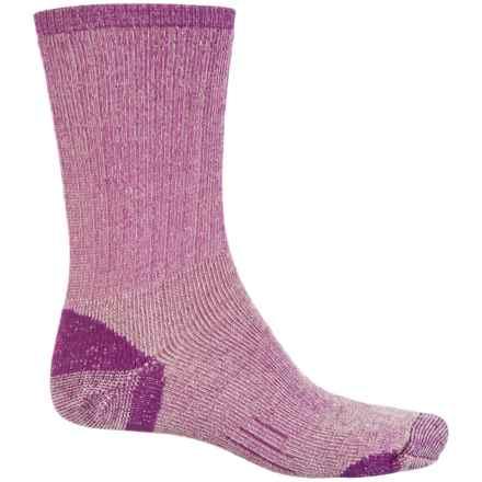 Woolmax Medium Hiking Socks - Merino Wool, Crew (For Women) in Gloxinia - Closeouts