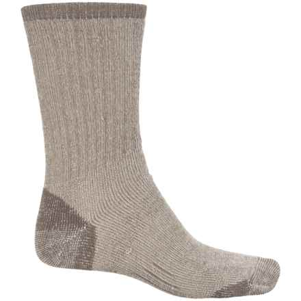 Woolmax Medium Hiking Socks - Merino Wool, Crew (For Women) in Stone - Closeouts