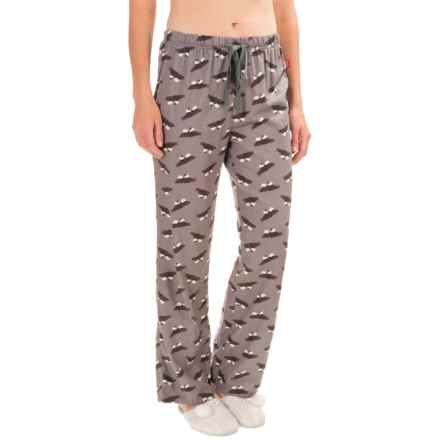 Woolrich 300 Park Printed Lounge Pants - Flannel (For Women) in Grey - Closeouts