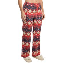 Woolrich 300 Park Printed Lounge Pants - Flannel (For Women) in Hot Guava - Closeouts
