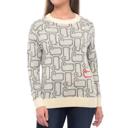 Woolrich A Flock of Sheep Sweater - Merino Wool (For Women) in Wool Cream - Closeouts