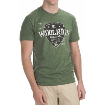 Woolrich Adventure T-Shirt - Short Sleeve (For Men) in Heather Dark Green