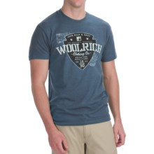 Woolrich Adventure T-Shirt - Short Sleeve (For Men) in Heather Marine - Closeouts