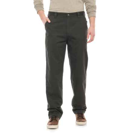 Woolrich Alderglen Flannel-Lined Chino Pants (For Men) in Matte Gray - Closeouts