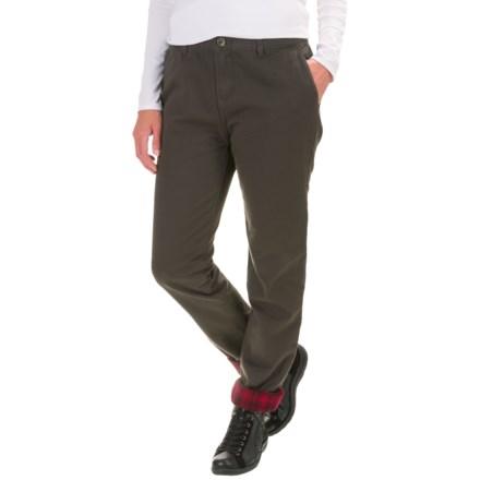 2ba696f574b69 Woolrich Alderglen Flannel-Lined Chino Pants (For Women) in Matte Grey -  Closeouts