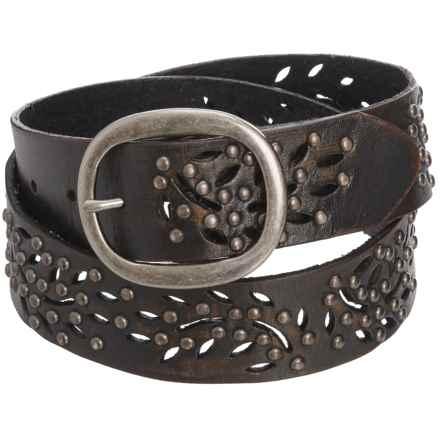 Woolrich Alderglen Leather Belt (For Women) in Brown/Black - Closeouts